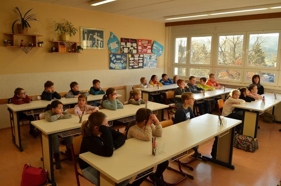 Besuch der Oberschule Breitenbrunn Klasse 4