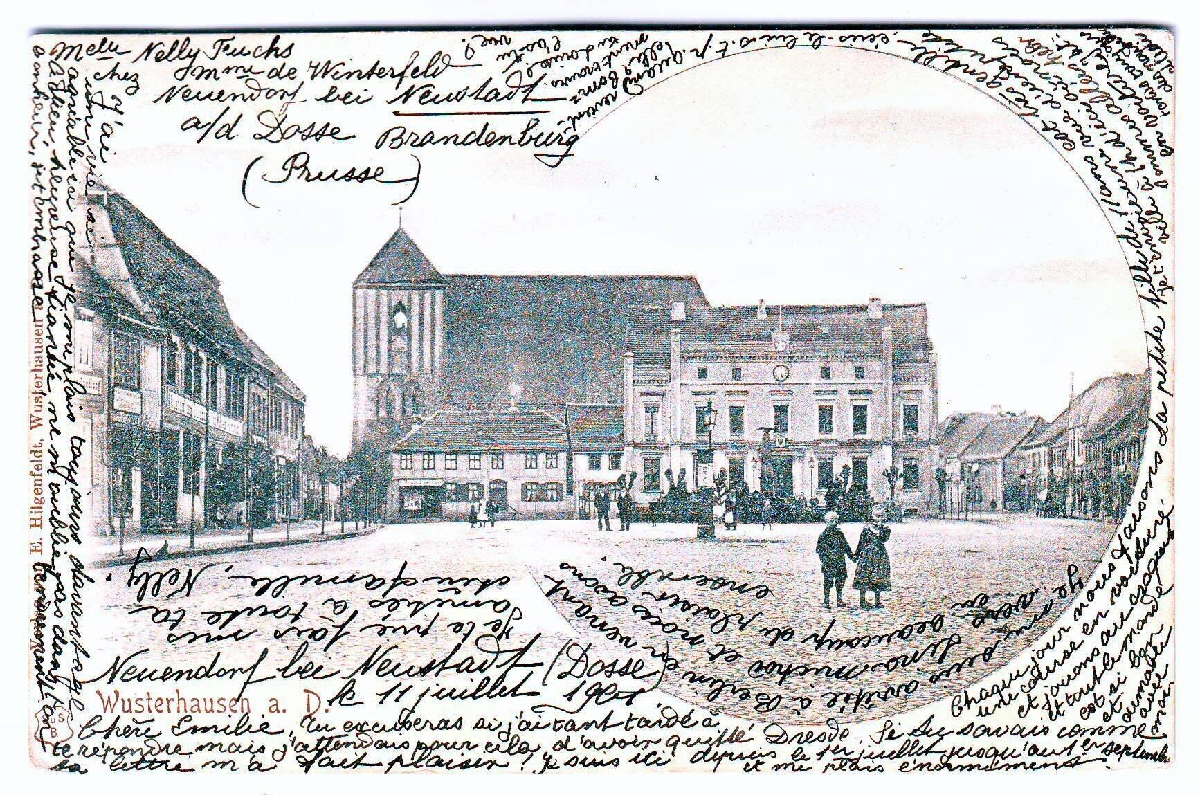 Postkarte, 1901 gelaufen Quelle: Archiv Wegemuseum