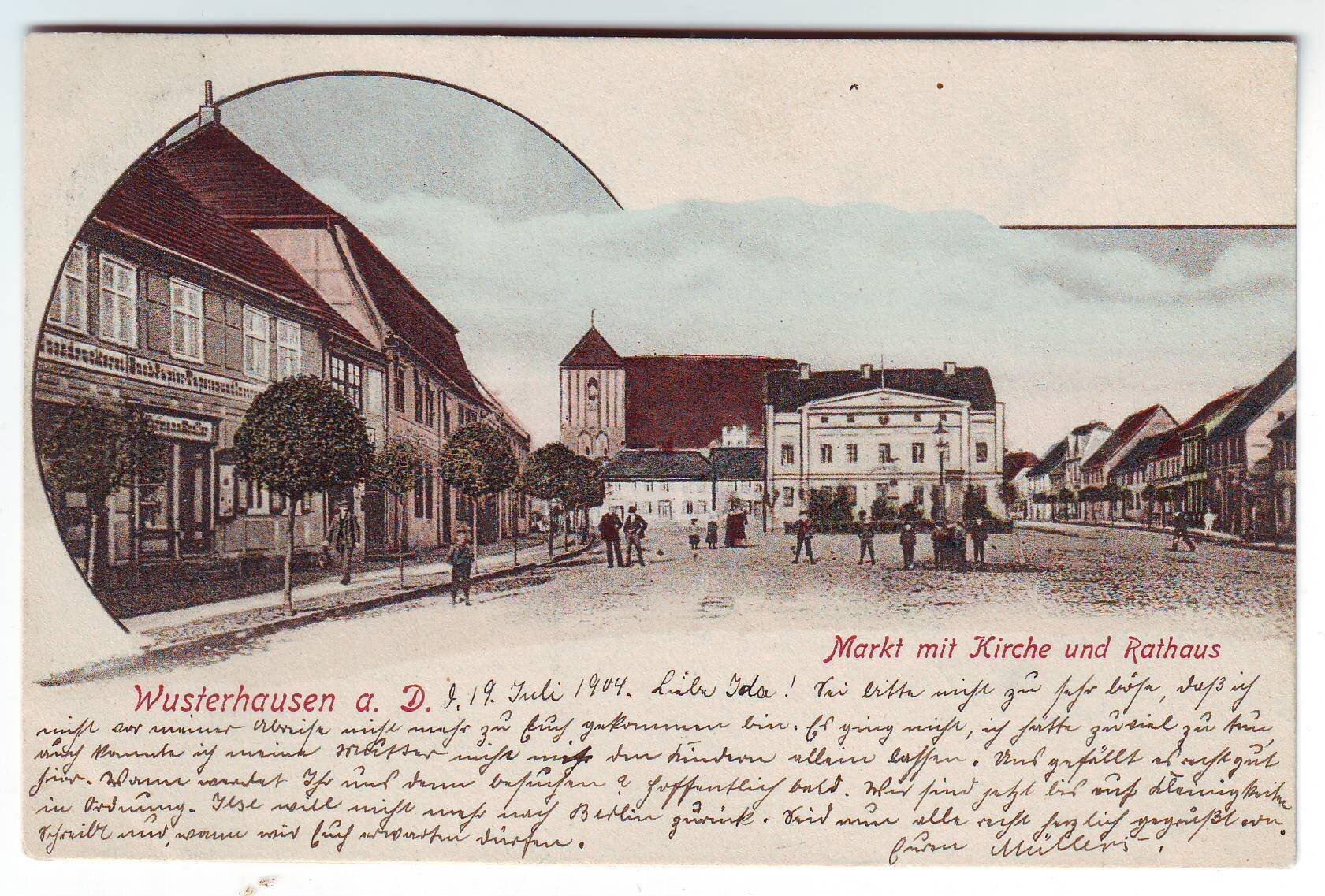 Postkarte von 1904 Quelle: Archiv Wegemuseum