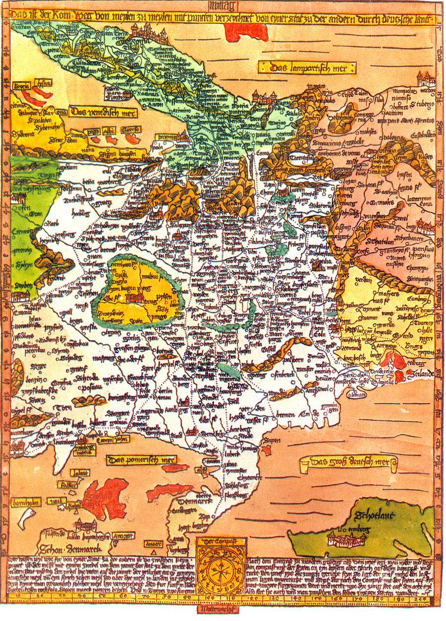 Romweg im Jahre 1500