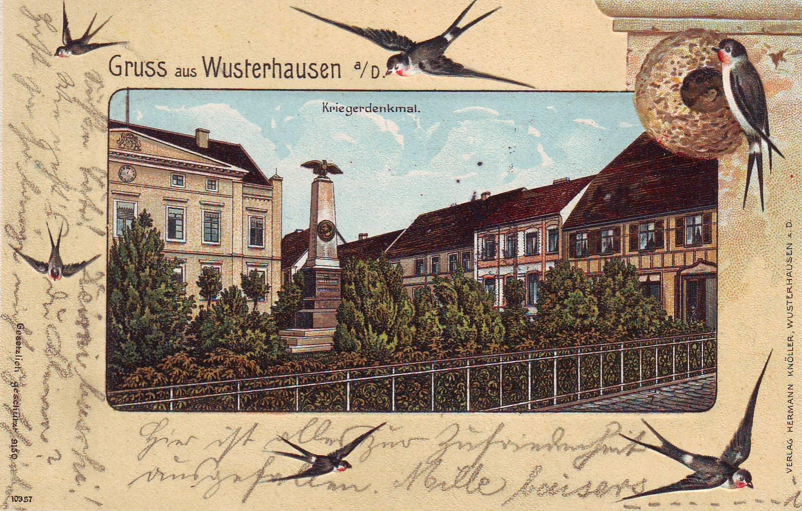 Ansicht mit Schwalben Quelle: Archiv Wegemuseum