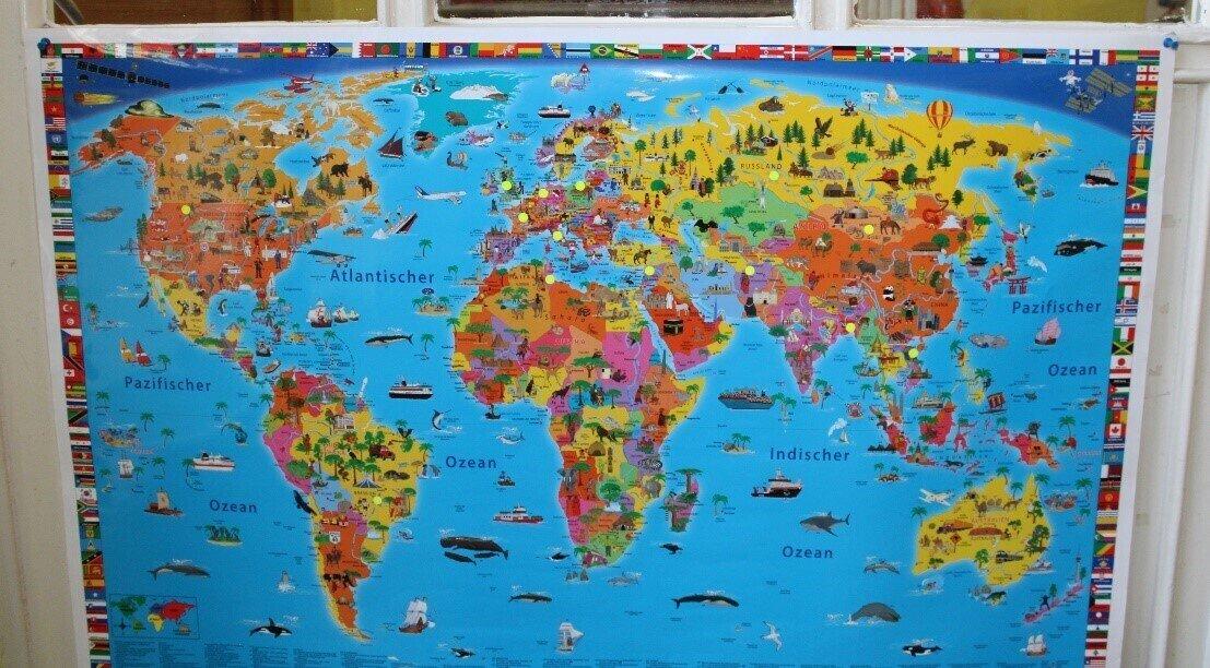 Weltkarte Jada