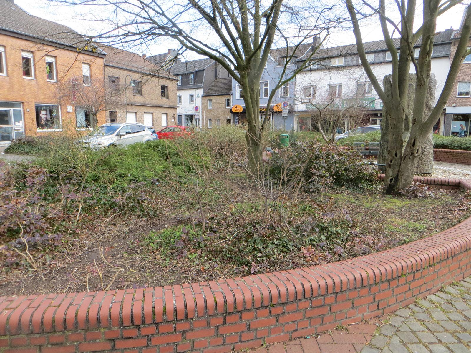 Beet am Dr-Hans-Böcklerplatz vor der Neubepflanzung