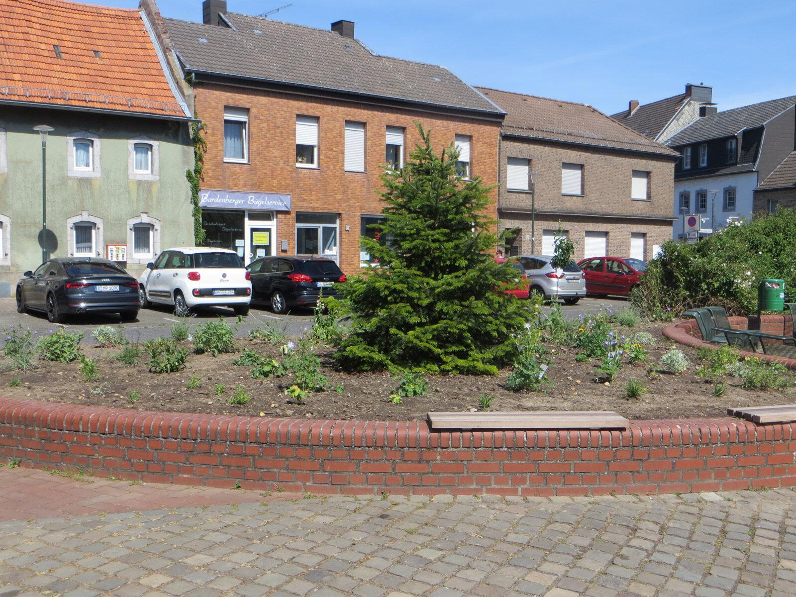 Dr-Hans-Böckler-Platz nach der Neubepflanzung