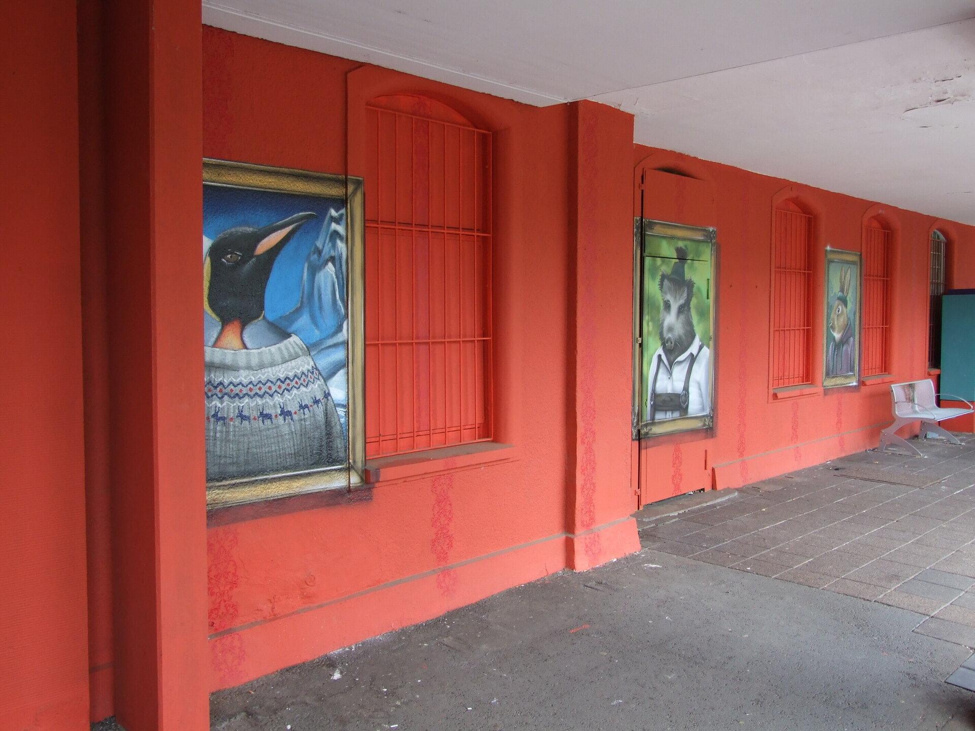 Kunstwerk am Bahnhof Ost