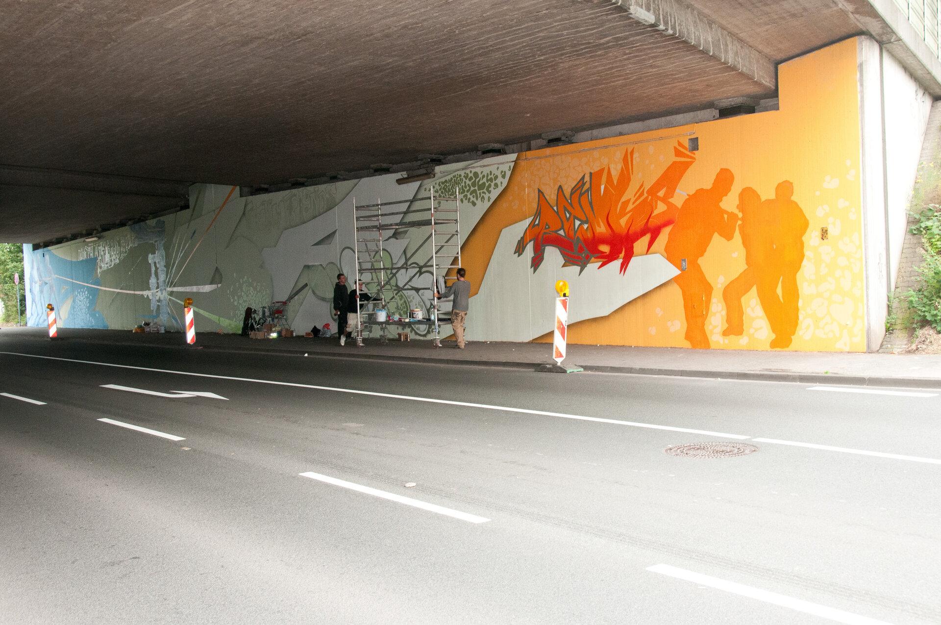 Kreuzstein - Gestaltungsprojekt einer Unterführung