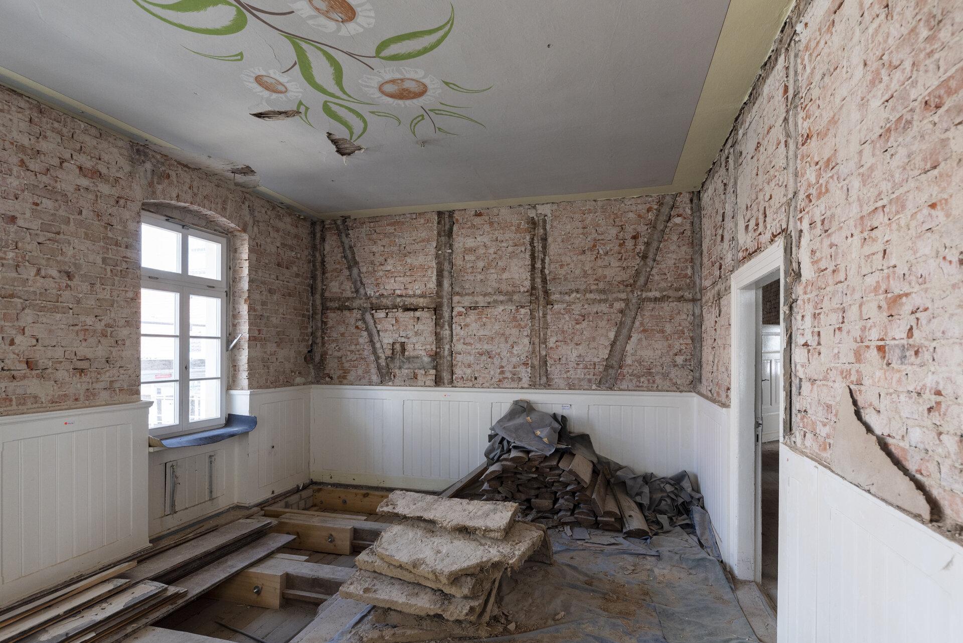 Baustelle Trauzimmer Foto: Gemeinde Wusterhausen