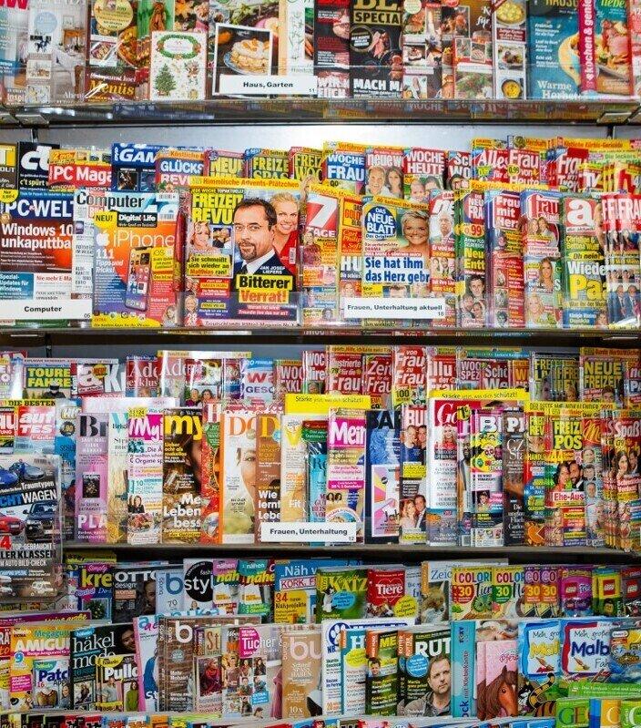 Zeitschriften Regal