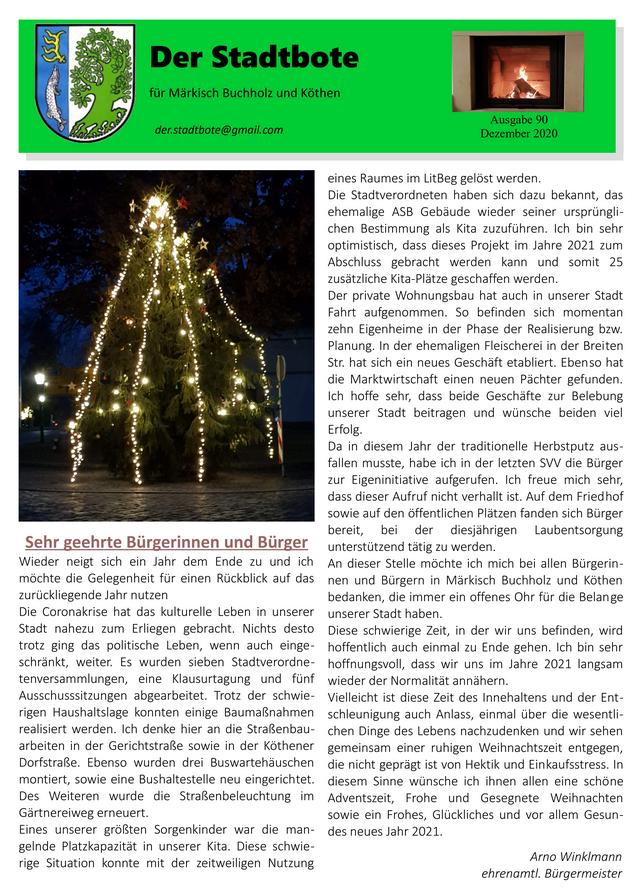 Ausgabe 90 - Dezember 2020