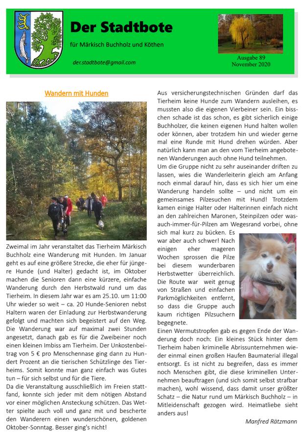 Ausgabe 89 - November 2020