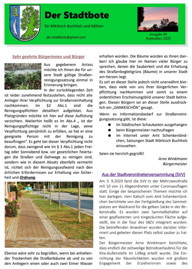 Ausgabe 88 - September 2020