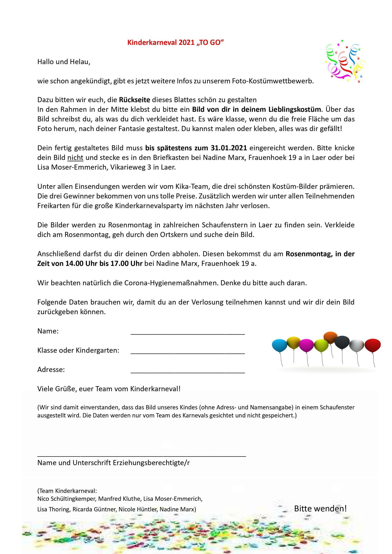 Teilnahmebogen (Seite 1/2), Download siehe unten.