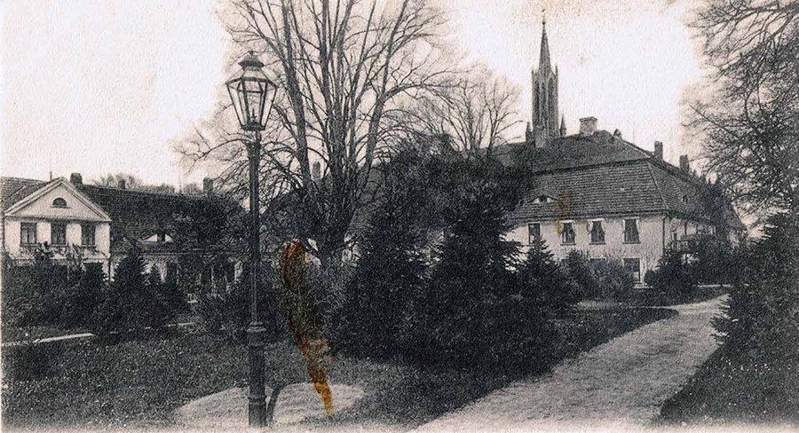 Damenplatz Ende 19. Jahrhundert