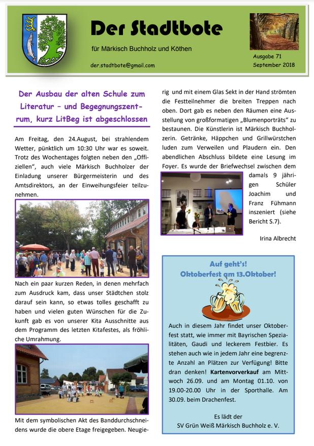 Ausgabe 71 - September 2018