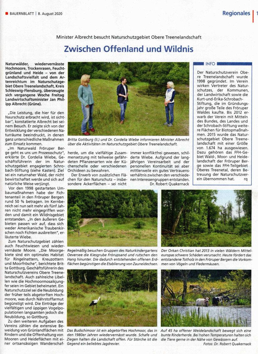 Minister Albrecht besucht Naturschutzgebiet Obere Treenelandschaft