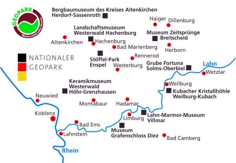 Geopark Übersichtskarte