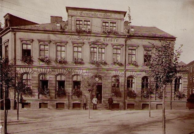Gemeindeamt Niederhaßlau um 1910