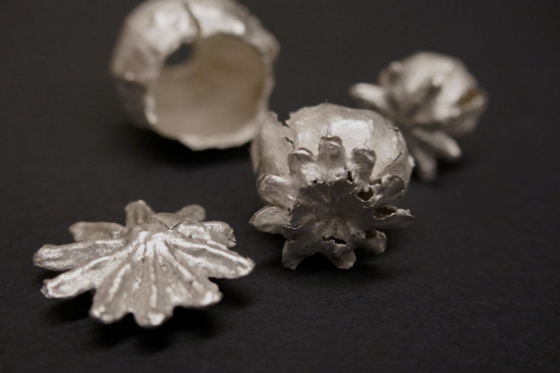 Silber, der Natur in Form und Vielfalt entlehnt