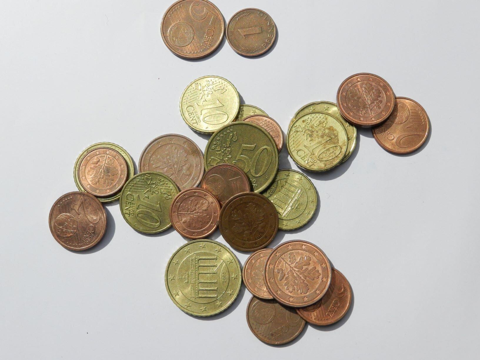 Unser Bild zeigt Kleingeld - symbolisch für den Verfügungsfonds