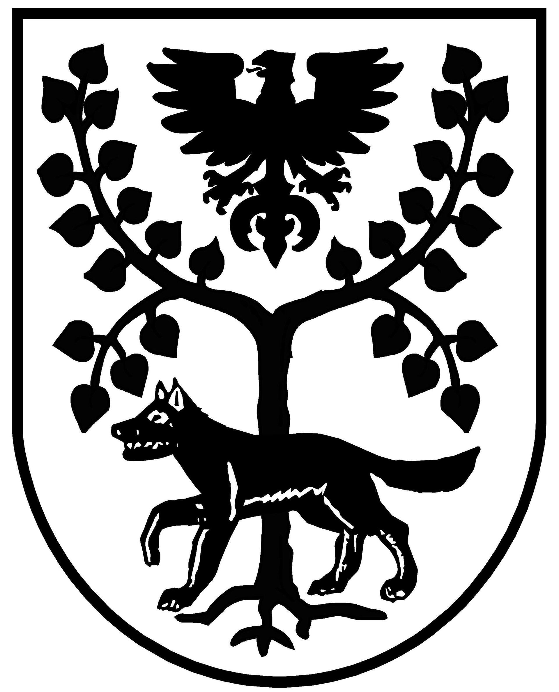 Brandenburger Adler, Linde und Wolf im Pritzwalker Stadtwappen. Quelle: Stadt Pritzwalk