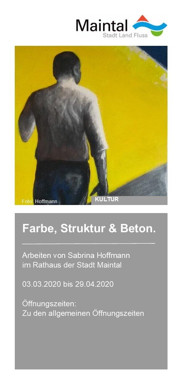 Flyer zur Ausstellung ab März 2020