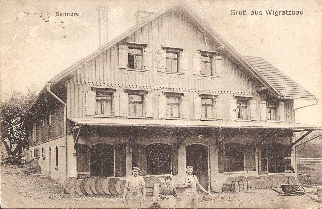 Sennlokal Wigratzbad ca. 1913