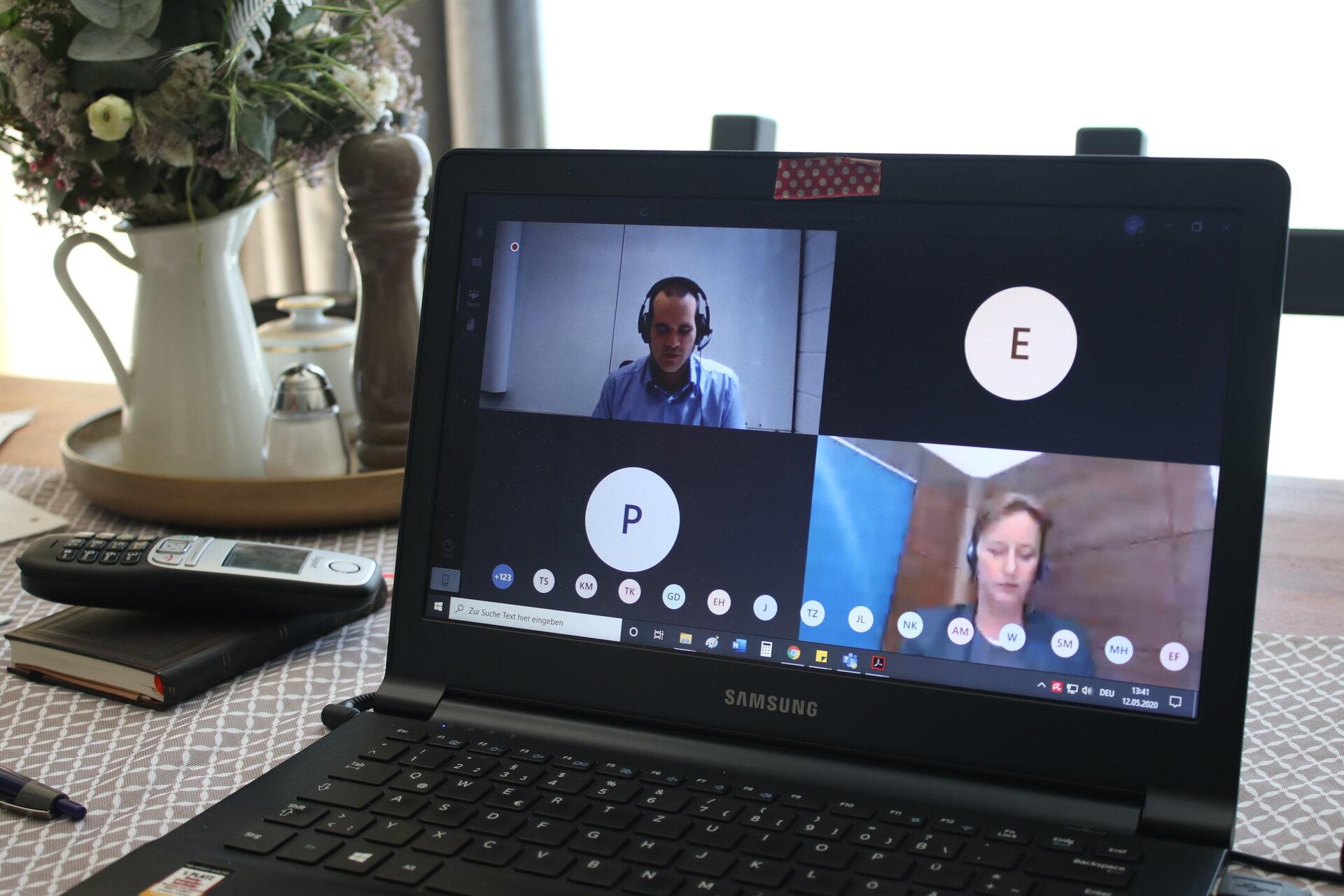 Symbolbild Virtuelle Sitzung