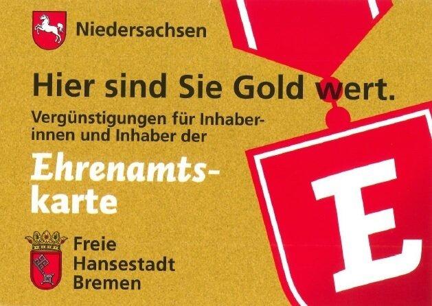 Ehrenamtskarte Niedersachsen  / Bremen und Helfer-Card