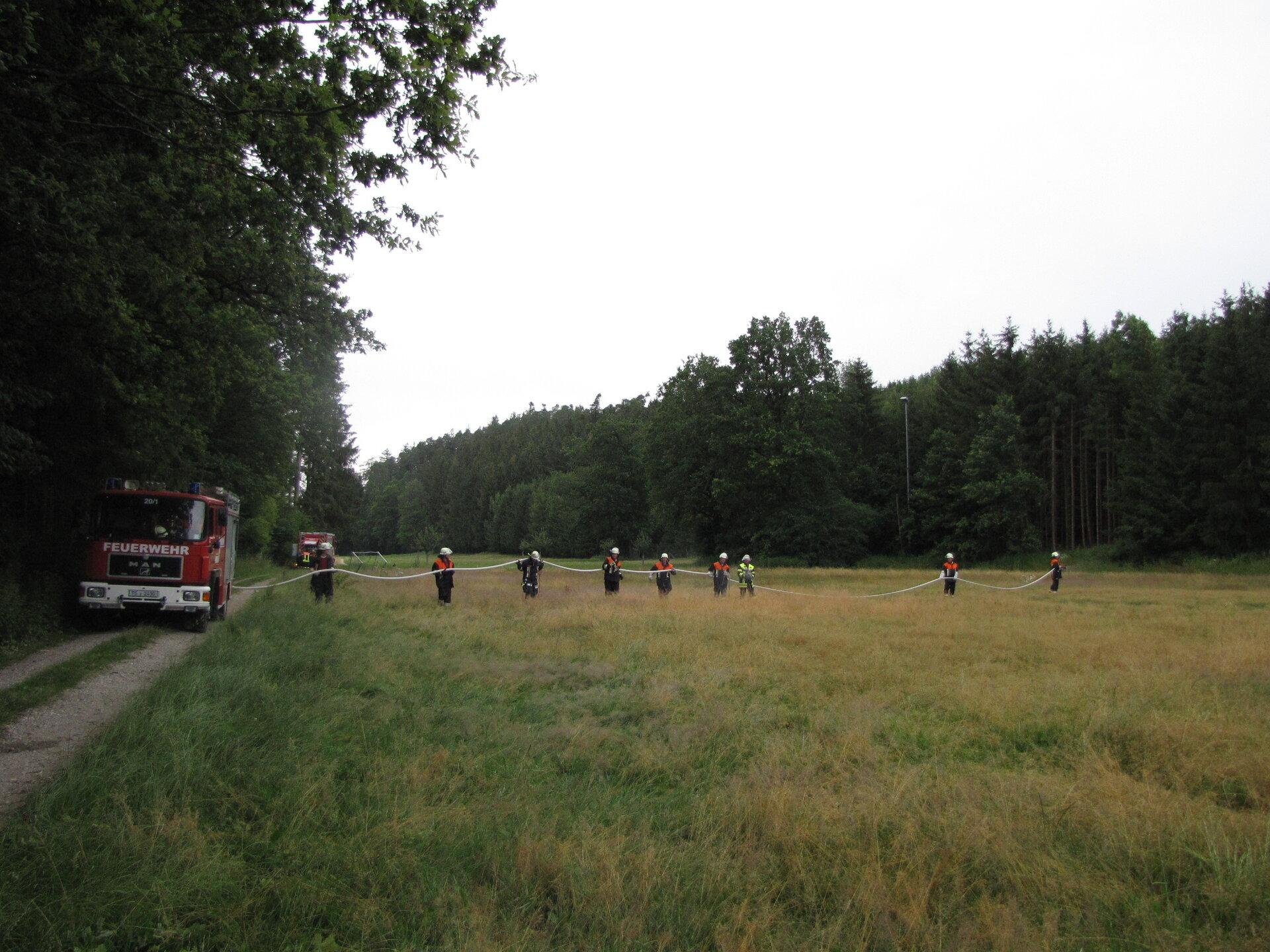 Pump & Roll bei einer Übung zur Vegetationsbrandbekämpfung 2019