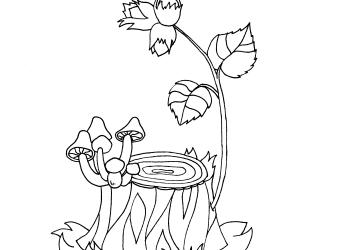 Baumstamm mit Pilzen