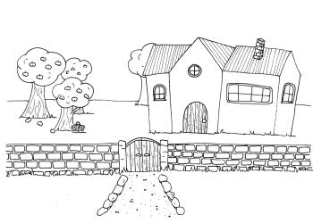Haus mit Obstgarten