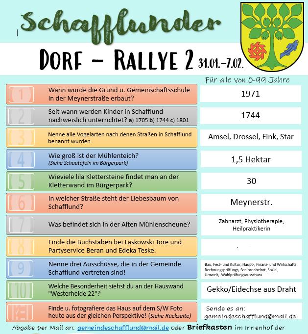 Lösung Dorf-Rallye 2