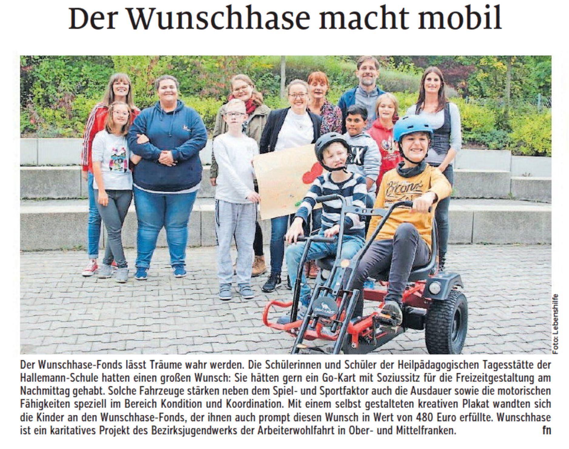 Zeitungsartikel Wunschhase