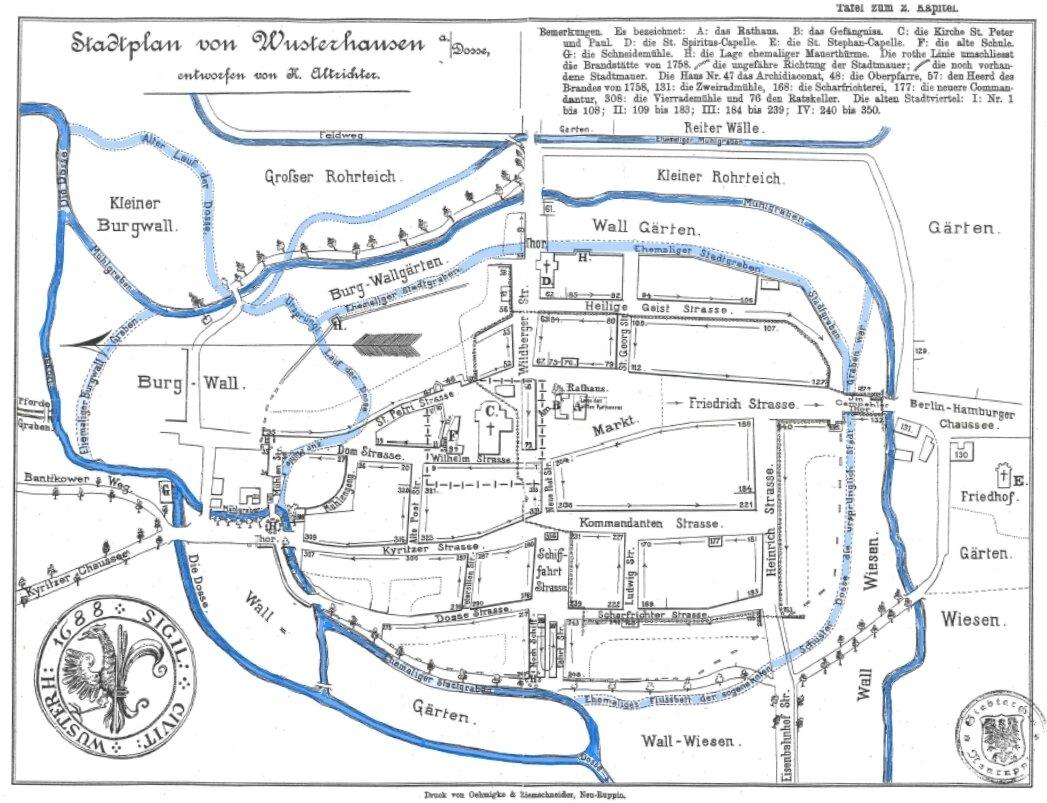 Historischer Stadtplan Karl Altrichter 1888