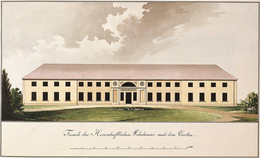 Schloss Paretz, Gartenseite, Paretzer Skizzenbuch