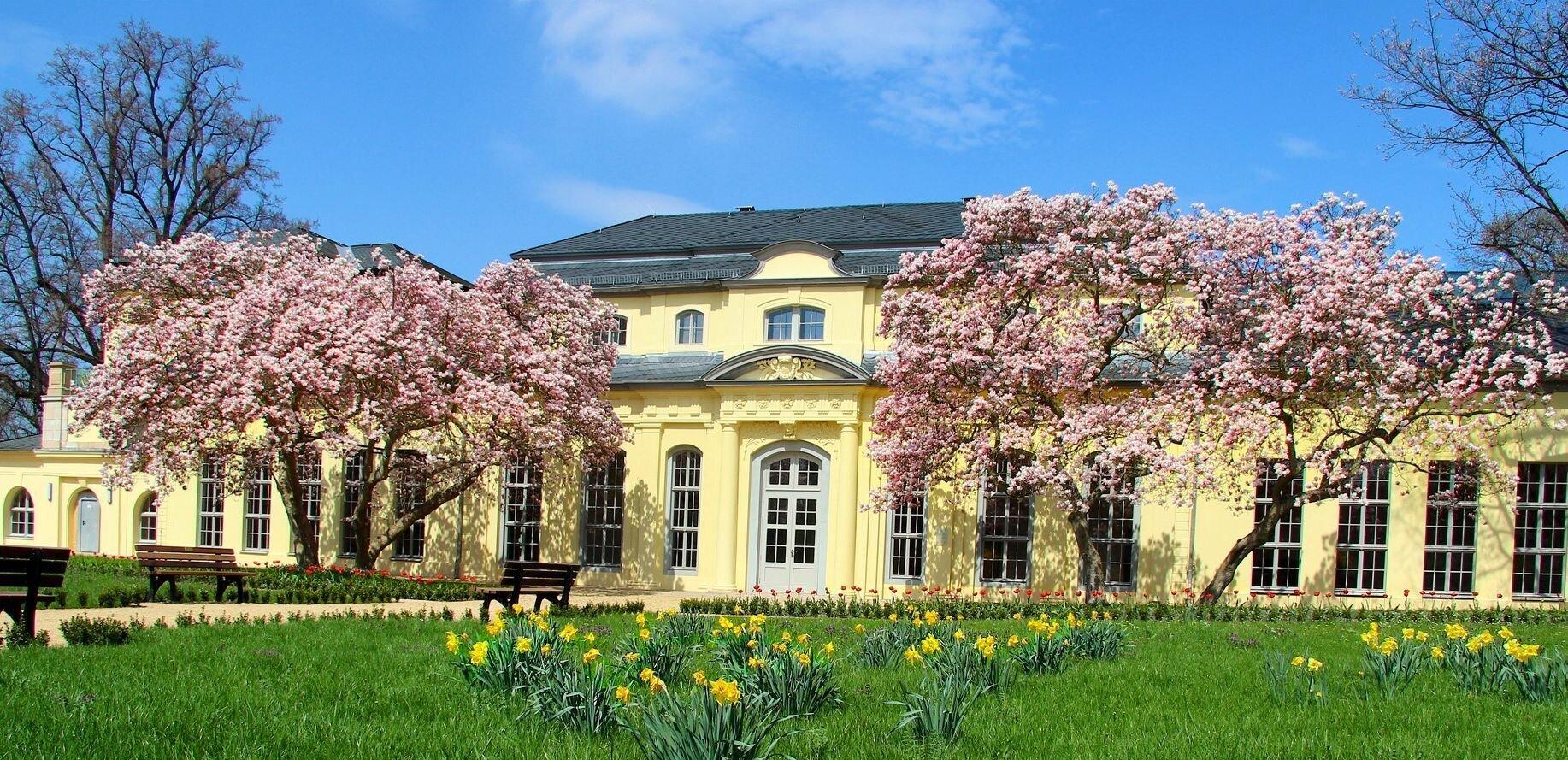 Schlosspark mit Teehaus und Orangerie