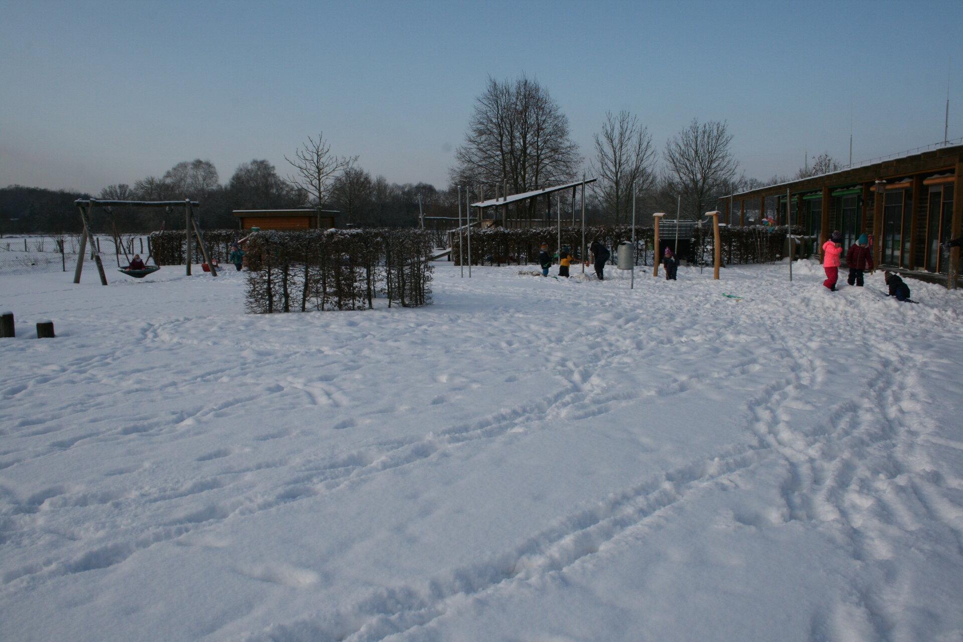 Draußen im Schnee