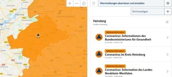 Warnmeldungen / Informationen (Bild: BBK)
