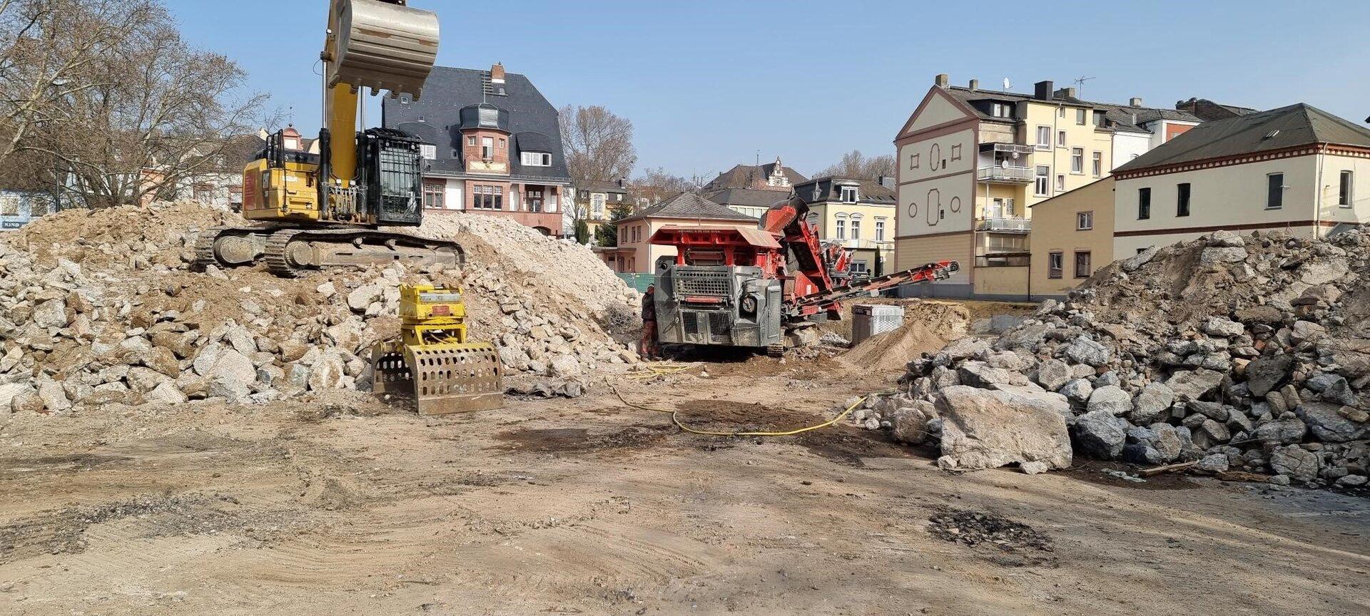 Fortschritte auf der Baustelle