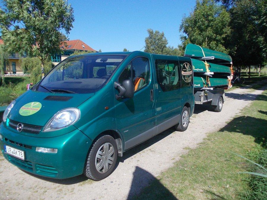 Bootstransporte entlang der Recknitz - Marlower Kanu-& Bootsverleih