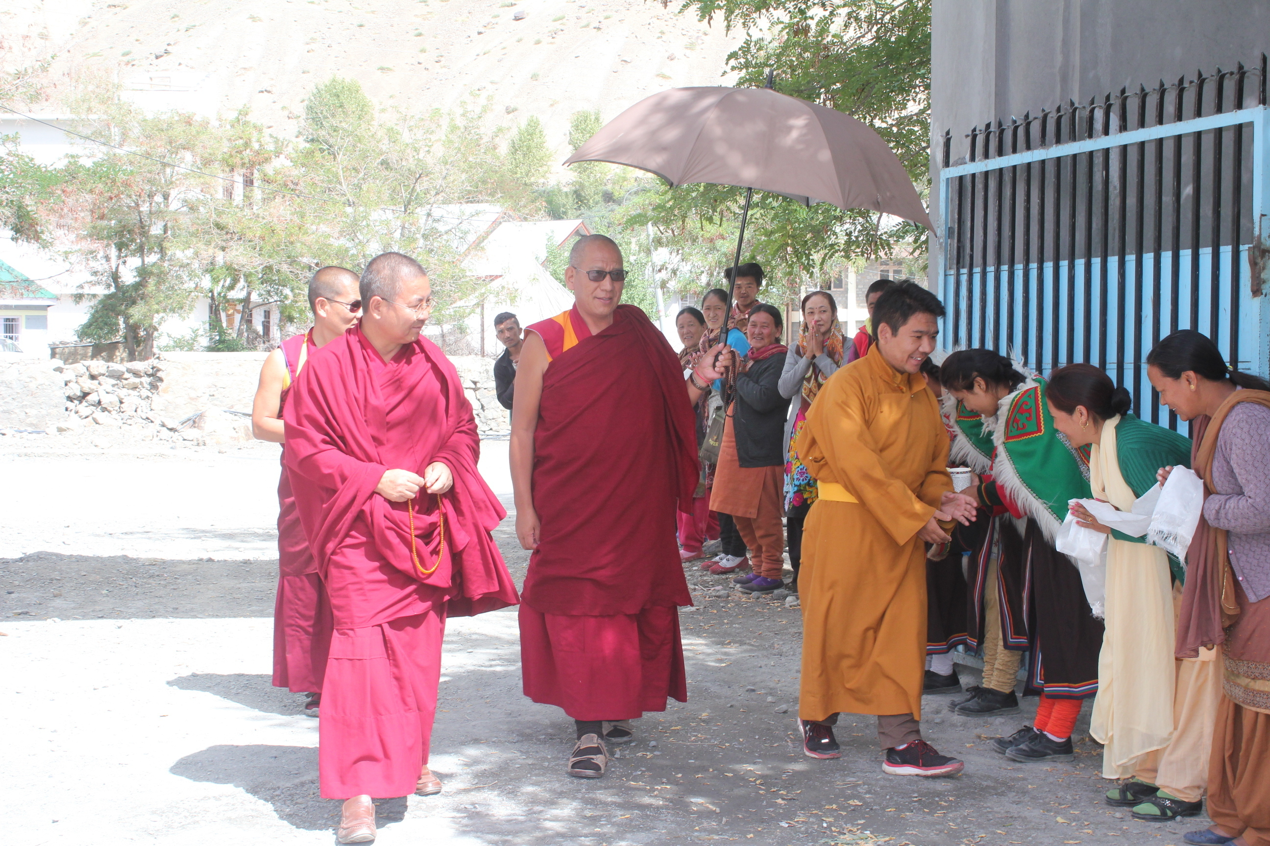 Tsenshap Serkong Rinpoche visiting Serkong School - Photo courtesy of Serkong School