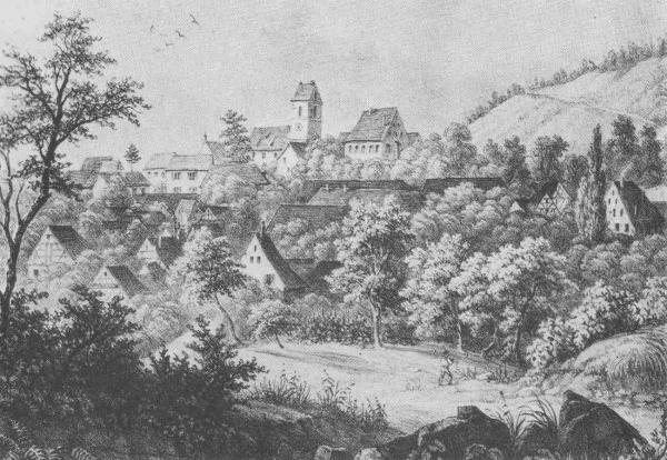Alte Ansicht von Tannenkirch, nach einer Lithographie von Otto Stübe