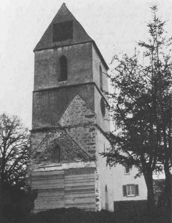 Der Turm nach dem Abbruch des Kirchenschiffes 1972