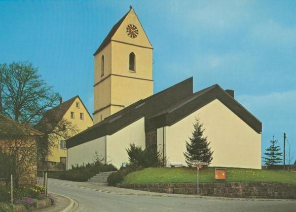 Die Kirche nach dem Neubau des Kirchenschiffes