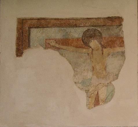 Reste des gotischen Freskenzyklus