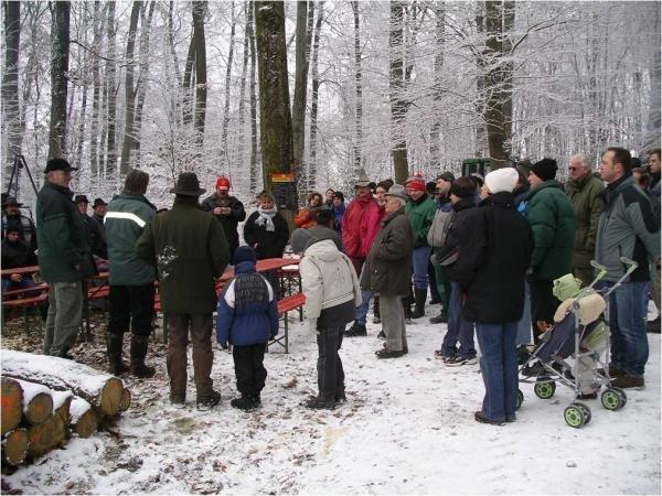 Die Wirtschaft im Winterwald...