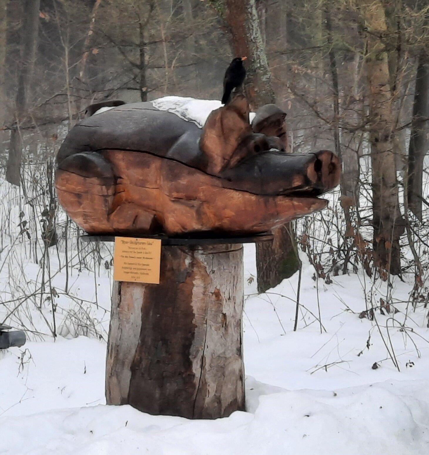 Spar-Skulpturen-Sau
