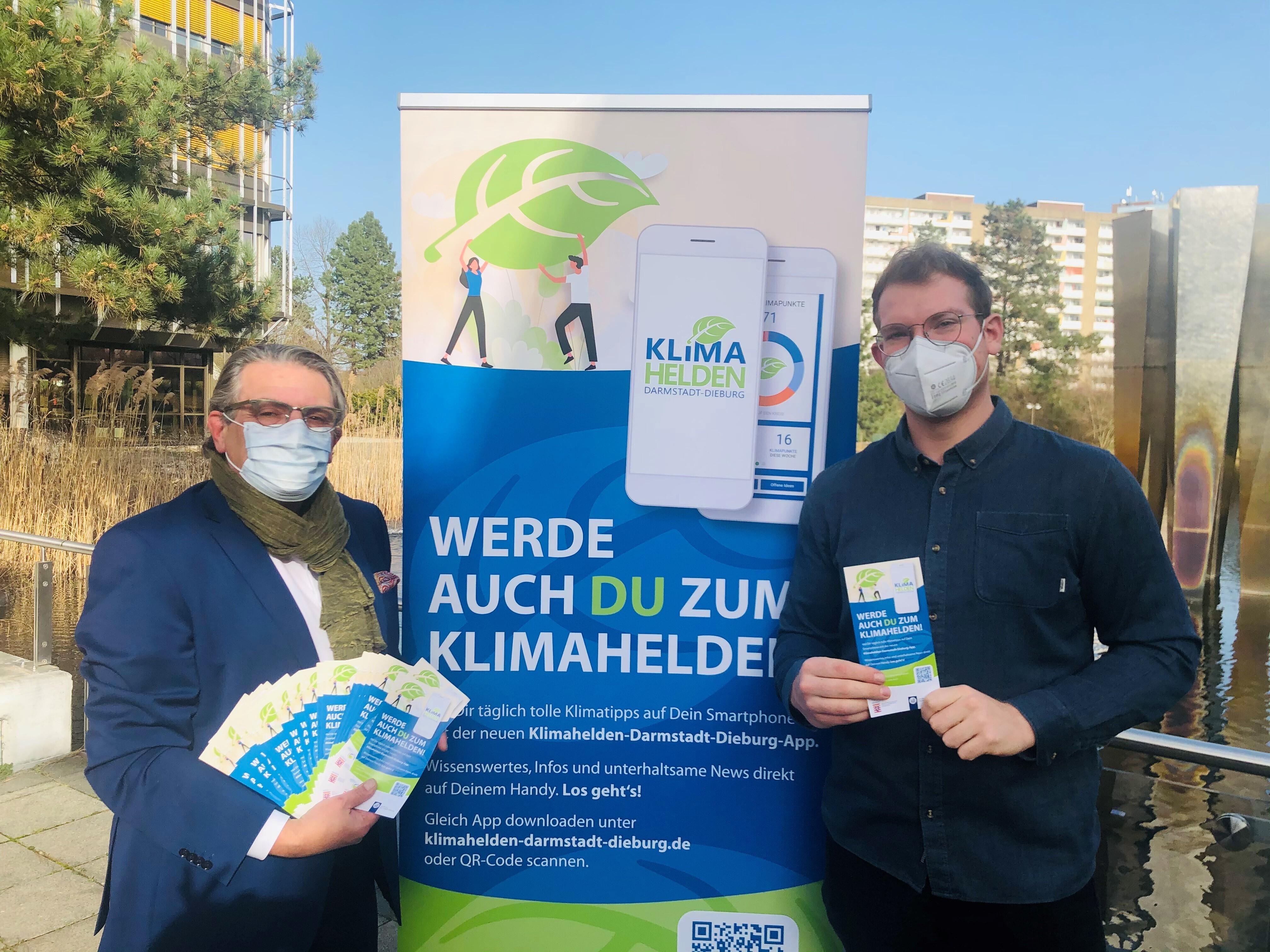 Landrat Schellhaas und Klimaschutzmanager Czak