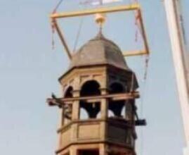 Aufbau des Kirchturms