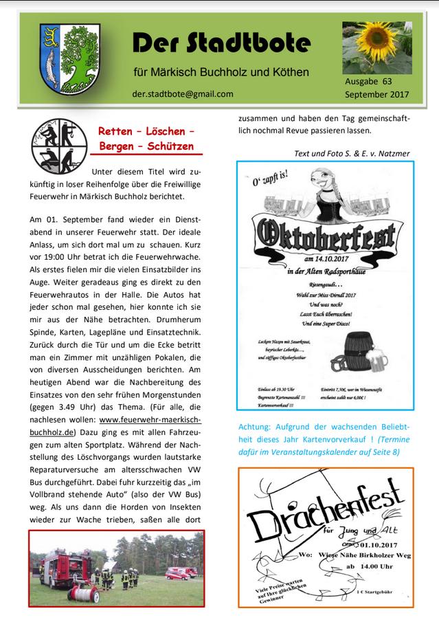 Ausgabe 63 - September 2017